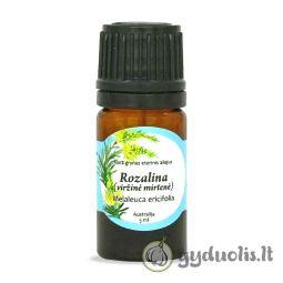 Rozalinų (viržinių mirtenių) eterinis aliejus, AROMAMA, 5 ml