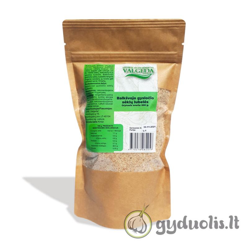 Balkšvojo gysločio sėklų luobelės, VALGEDA, 200 g
