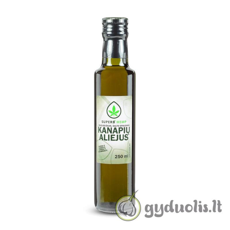 Kanapių aliejus, nerafinuotas, ekologiškas, SUPERB HEMP, 250 ml
